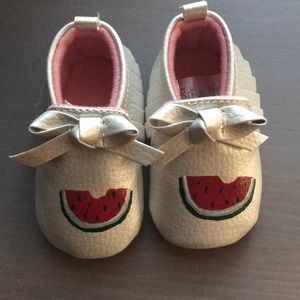 Hand Painted Carters Moccasins 0-3 months